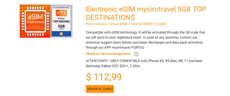 5GB e-sim Mexico