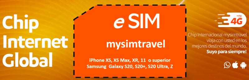 Tarjeta e-sim travel