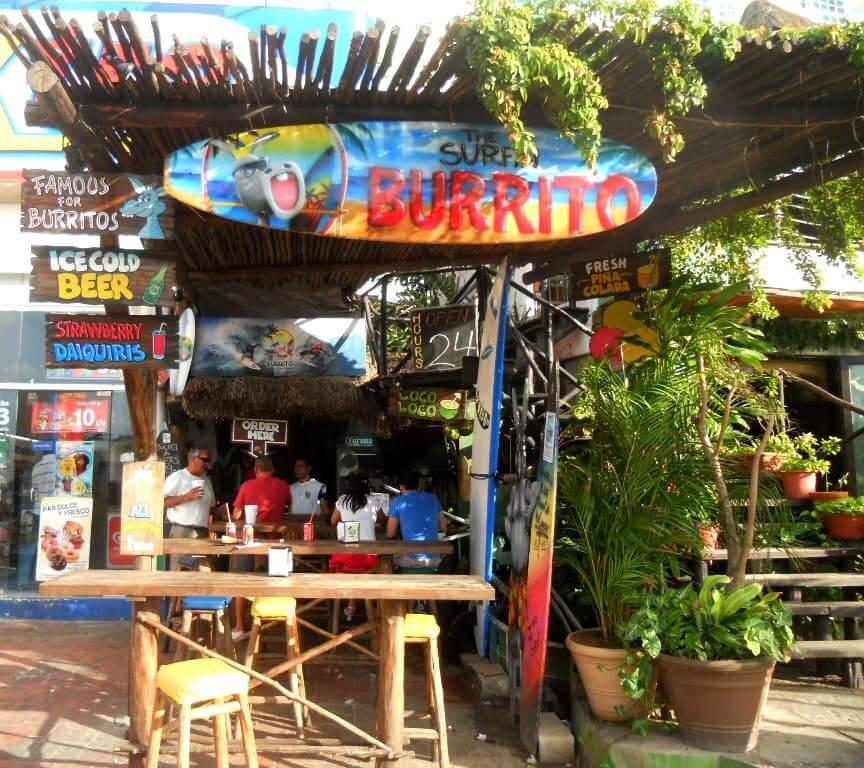 Restaurante The Surfin Burrito en Cancún