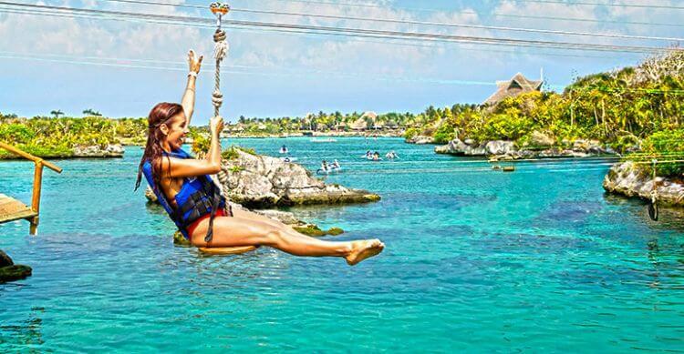 Parque Xel-Há en la región turística de Cancún