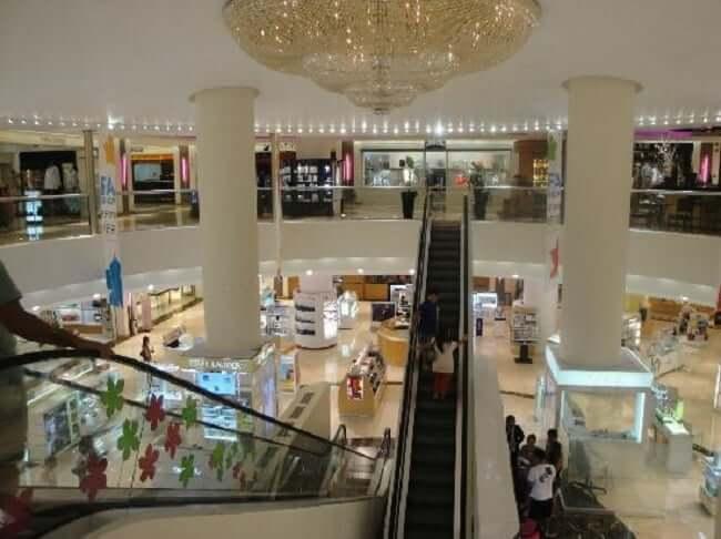 Tiendas en el Shopping Plaza Kukulcan en Cancún