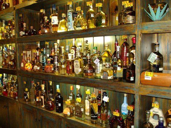 Tequilas en el Museo Sensorial del Tequila en Cancún