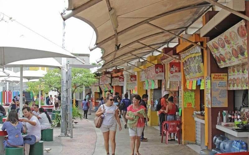Que y donde comer en el Parque de Las Palapas en Cancún