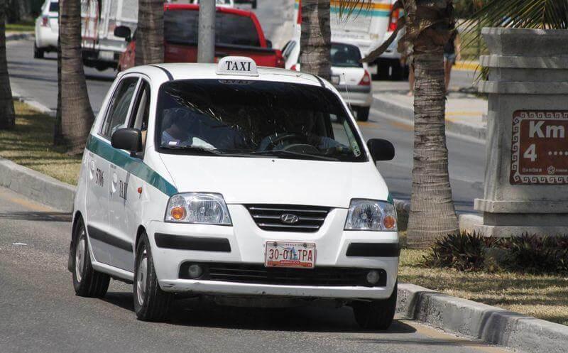 Taxi en Cancún