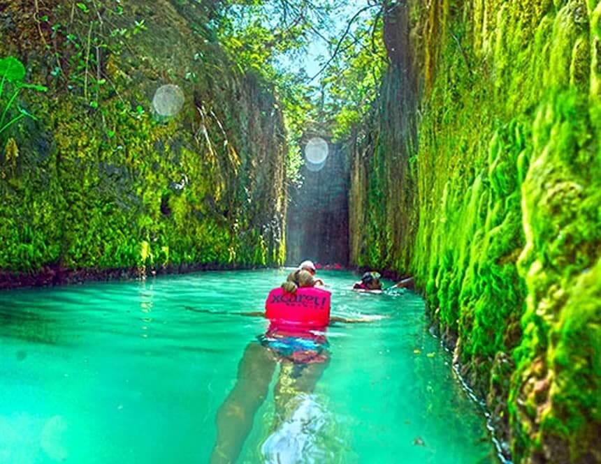 Principales atracciones del Parque Xcaret en Cancún: Ríos Subterráneos