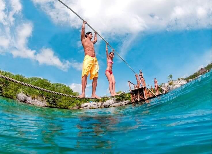 Atracciones en el Parque Xel-Há en Cancún - Rio Xel-Há