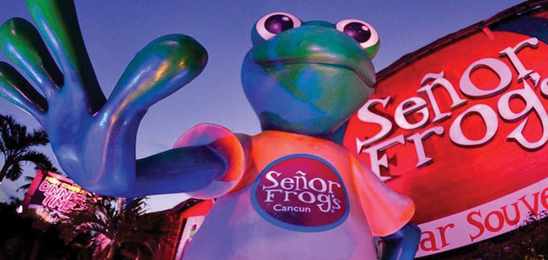 Estructura de la discoteca y bar Señor Frog's en Cancún