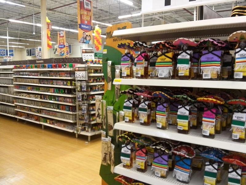Productos en el Walmart en Cancún