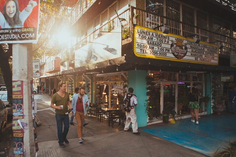 Salir por la noche en La Condesa en Ciudad de México
