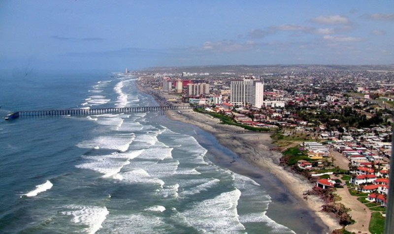 Ciudad de Rosarito cerca de Tijuana