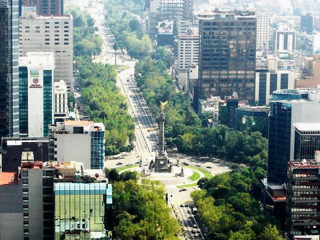 Avenida Paseo de La Reforma en Ciudad de México